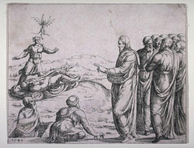 Augustin Hirschvogel, Christ Healing the Man Possessed of a Devil