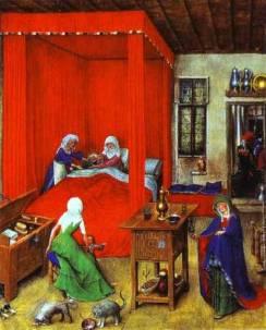 Jan van Eyck, The Birth of John the Baptist