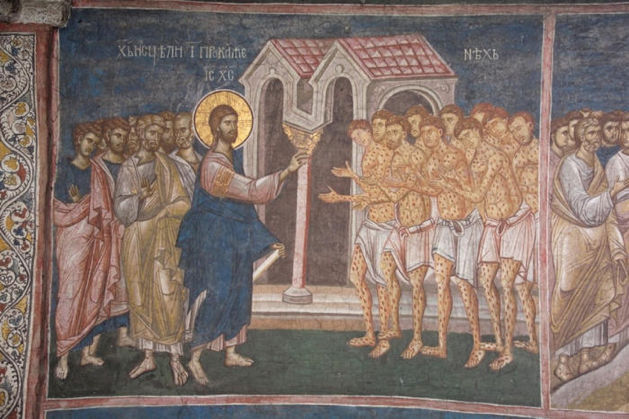 Visoki Decani Monastery, Christ Healing Ten Lepers