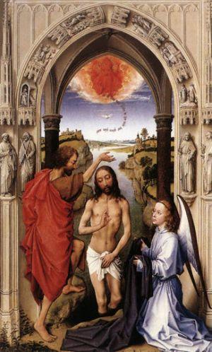 Rogier van der Weyden, Baptism of Christ (St. John Altarpiece)