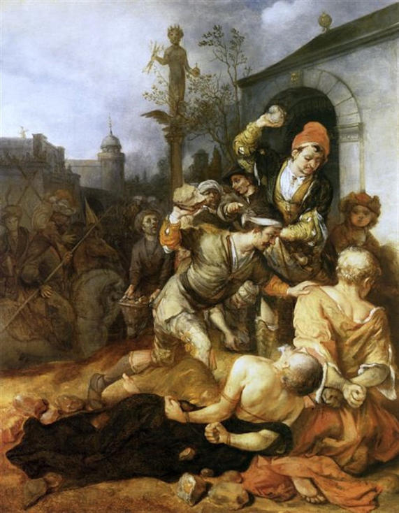 Barent Fabritius, Stoning of St. Paul and St. Barnabas at Lystra