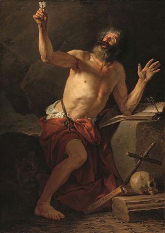 Jacques-Louis David, Saint Jerome Hears the Trumpet of the Last Judgment