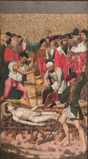Master of Castelsardo, Saint Vincent on the Gridiron