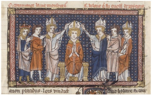 Workshop of Jeanne and Richard de Montbaston, The Ordination of Saint Hilary of Poitiers