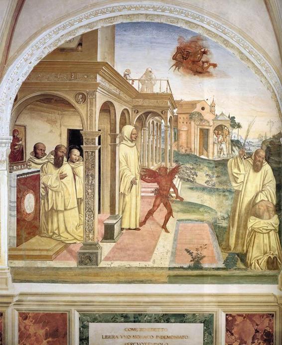 Il Sodoma, Benedict Frees a Monk