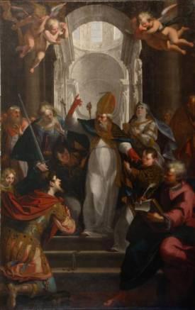 Giovanni Andrea Ansaldo, St, Ambrose and Emperor Theodosius
