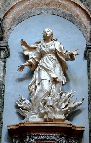 Ercole Ferrata, The Martyrdom of St Agnes