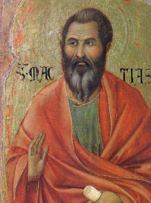 Duccio, Apostle Matthias (detail from Maestà)