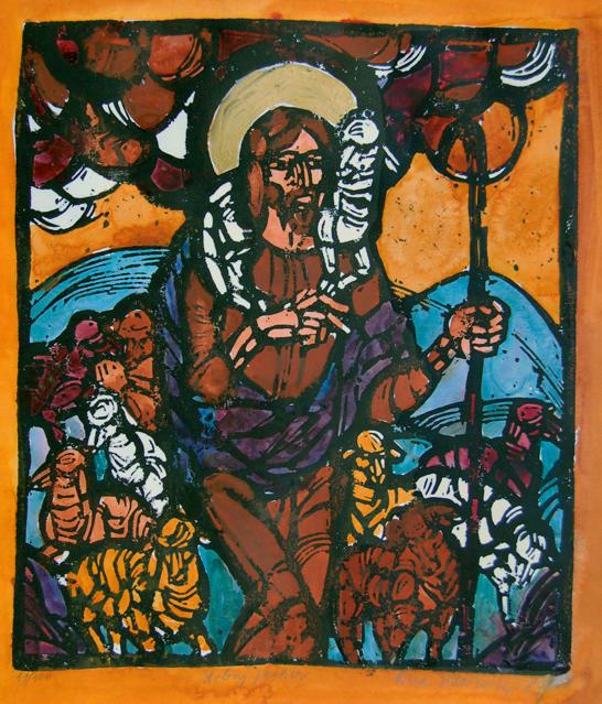 Viera Hlonikova, Jesus as Shepherd
