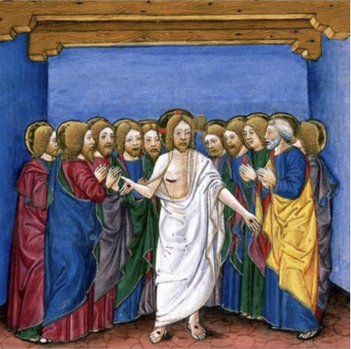 Cristoforo de Predis, The Risen Jesus Appears to His Disciples