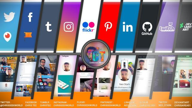 ChrisTec – Tous mes réseaux sociaux, venez me suivre !!