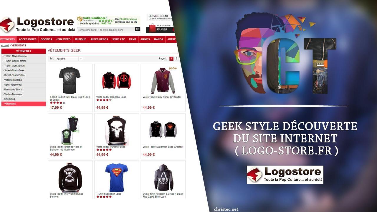 Geek Style découverte du site Internet ( logo-store.fr )