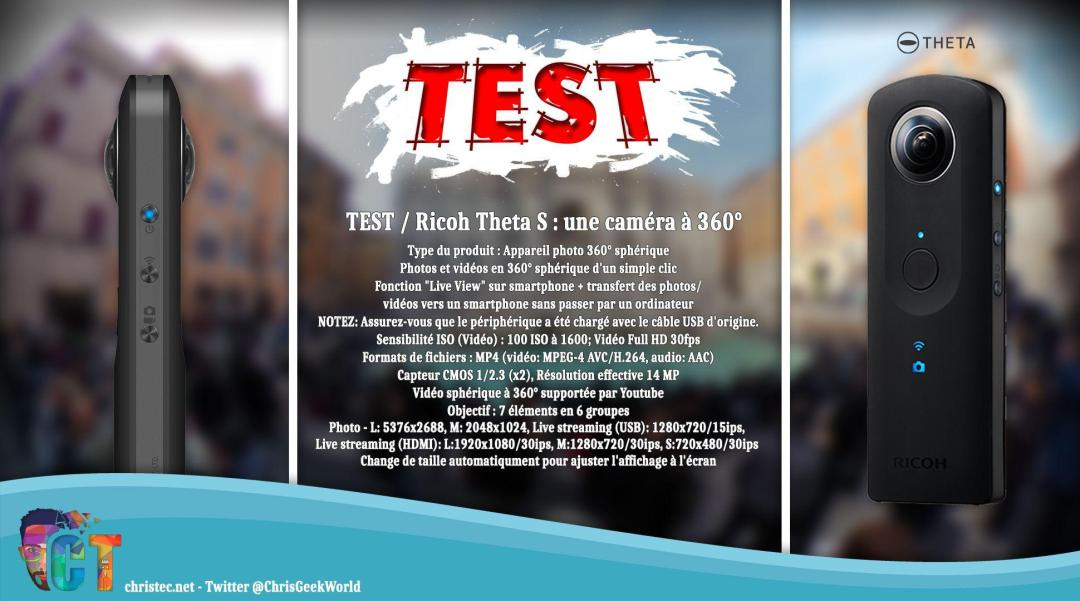 image en-tête caméra à 360° ricoh theta s