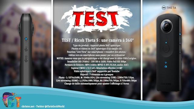 Test caméra à 360° Ricoh Theta S