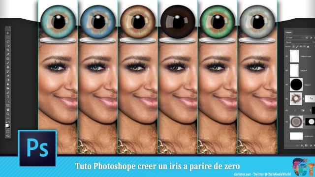 Tuto Photoshop, création d'un iris à partir de 0 pour retoucher des yeux