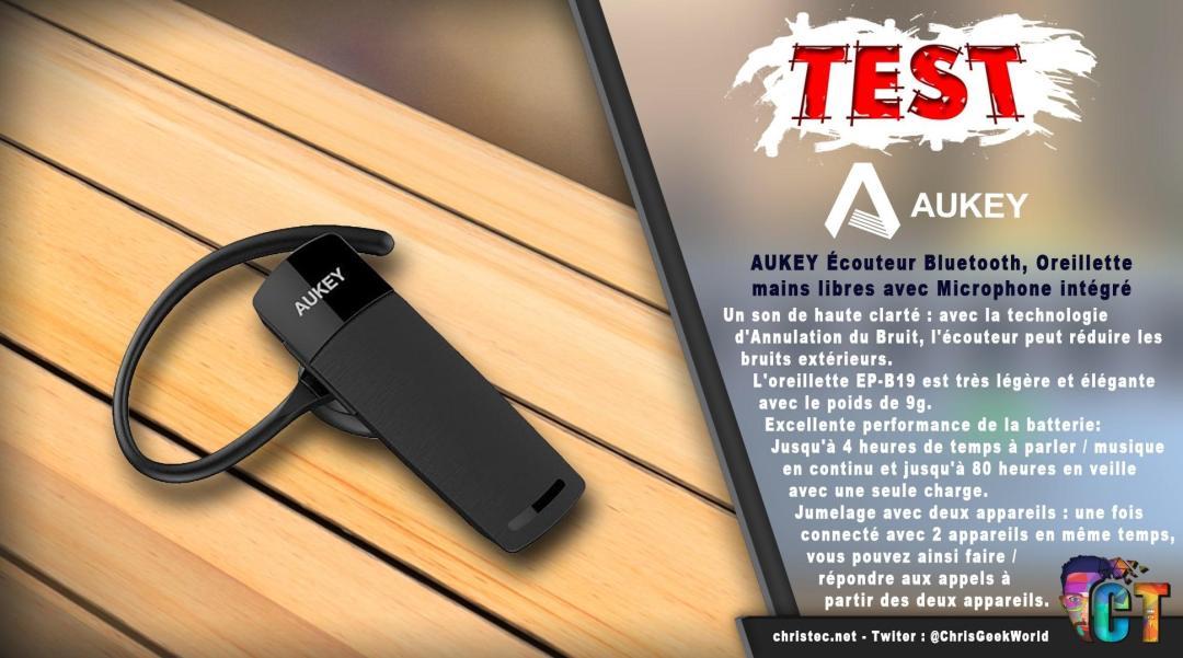 image en-tête Test oreillette Bluetooth Aukey