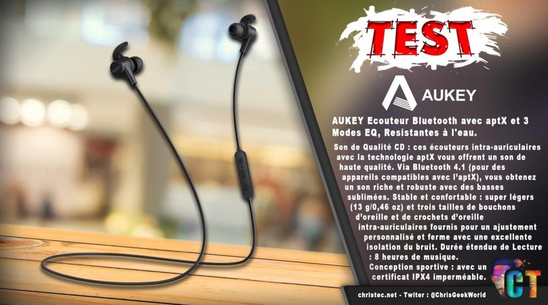 image en-tête test des écouteurs bluetooth aukey sport