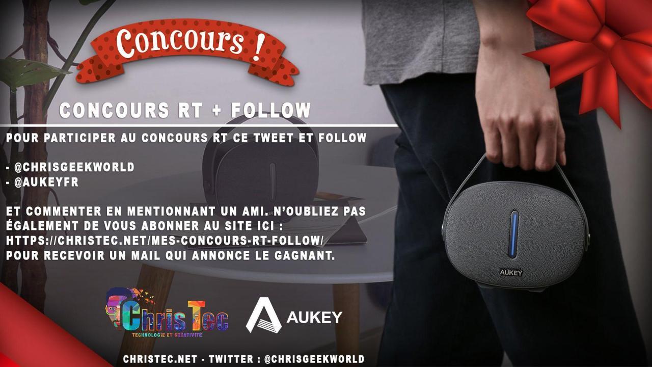 Voici le gagnant du concours twitter (Enceinte portable Bluetooth)