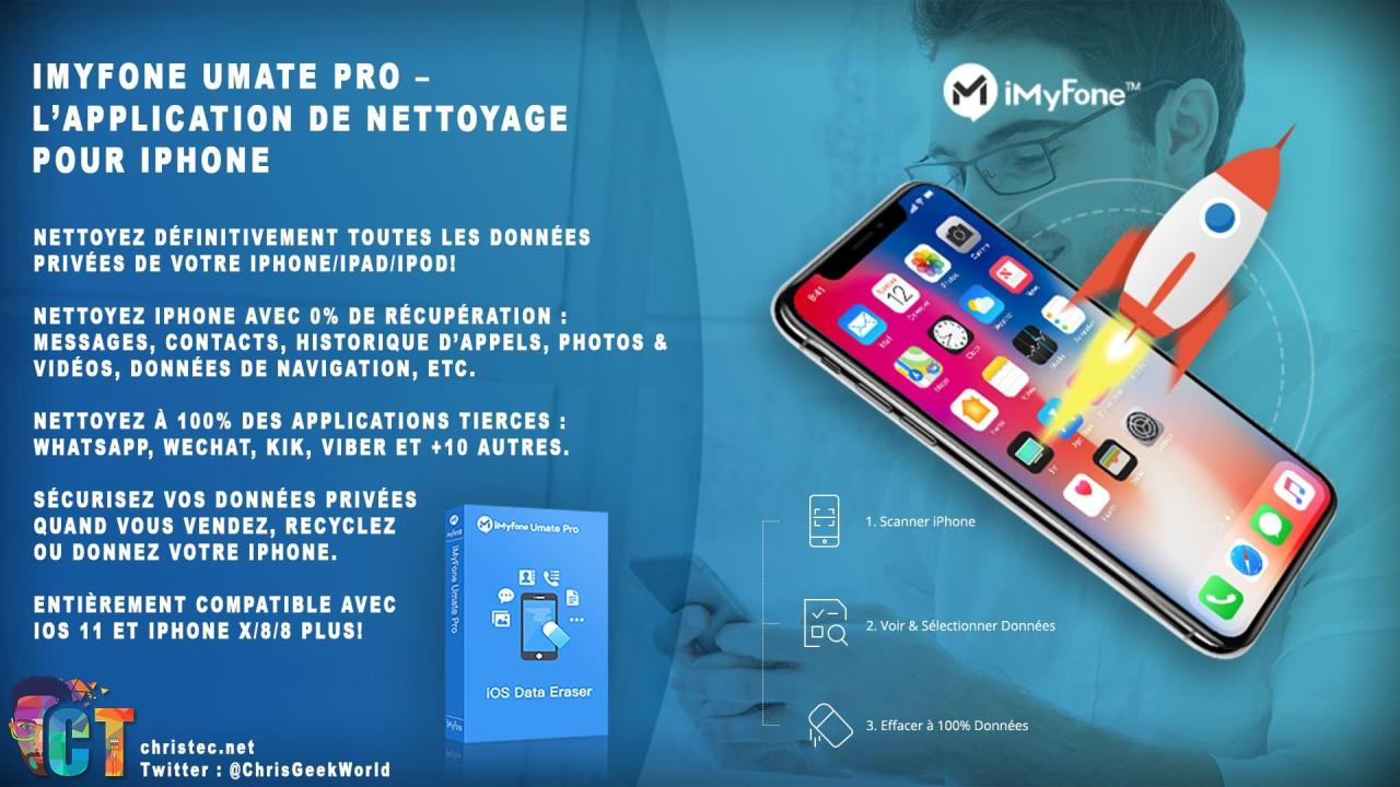 Découverte de iMyFone Umate Pro – l'application de nettoyage pour iPhone