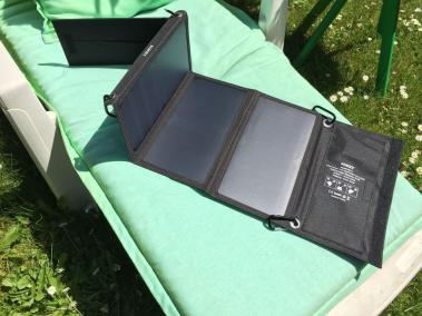image test du chargeur solaire de 21 w aukey 5