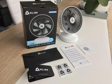 image test du ventilateur de bureau usb klim breeze 2