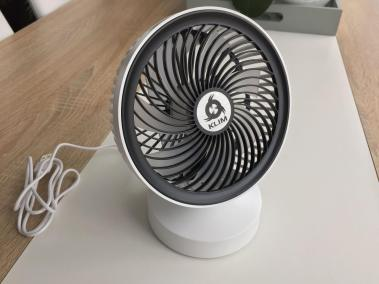 image test du ventilateur de bureau usb klim breeze 3