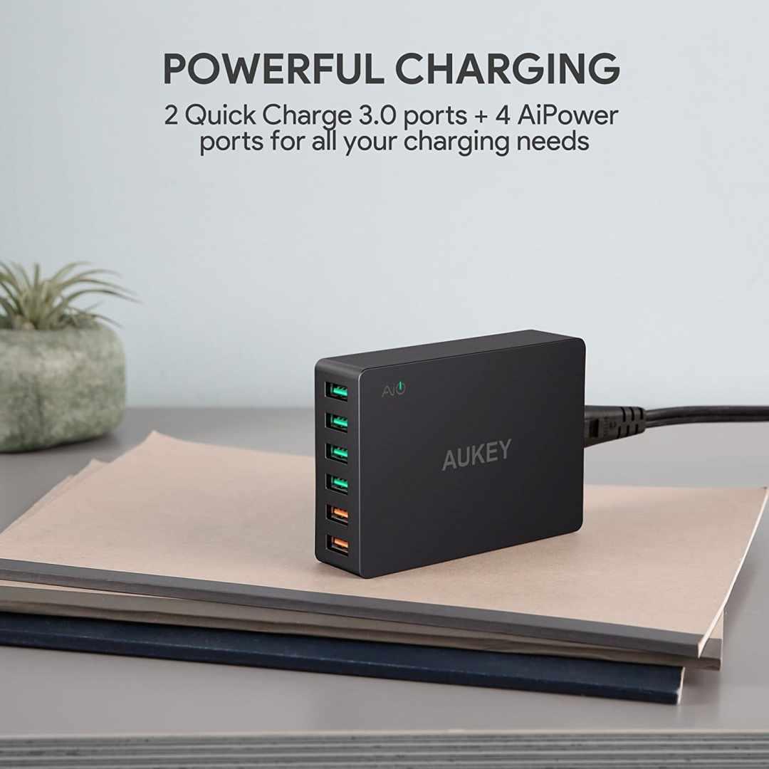 image Test du chargeur de voyage Aukey quick charge 6 ports USB 3,0 60W 7