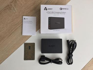 image Test du chargeur de voyage Aukey quick charge 6 ports USB 3,0 60W 2