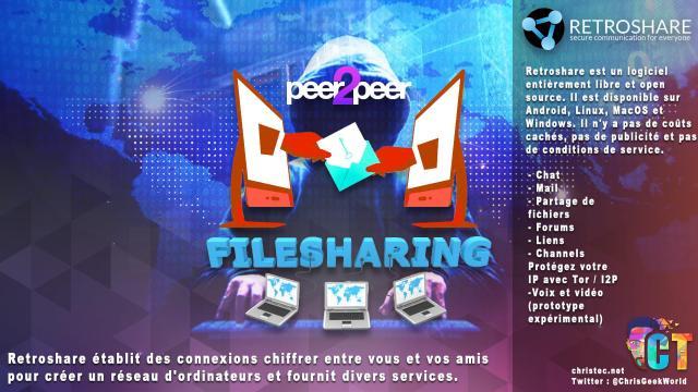 Chiffrer tous vos communication et échange de fichiers, tout en protégeant votre IP avec Retroshare