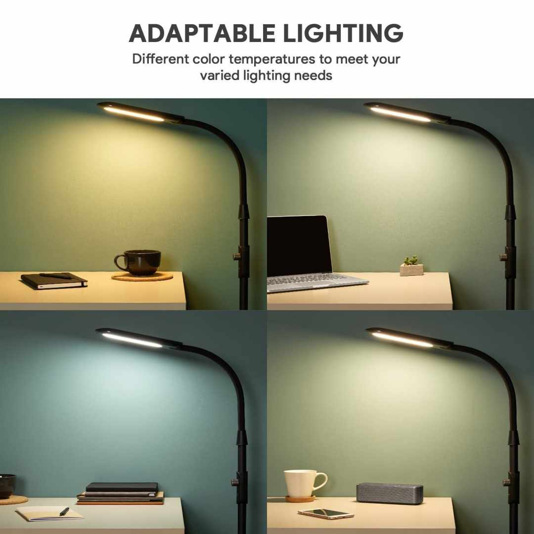 image test de la lampe sur pied à LED Aukey avec 3 modes d'éclairage 16