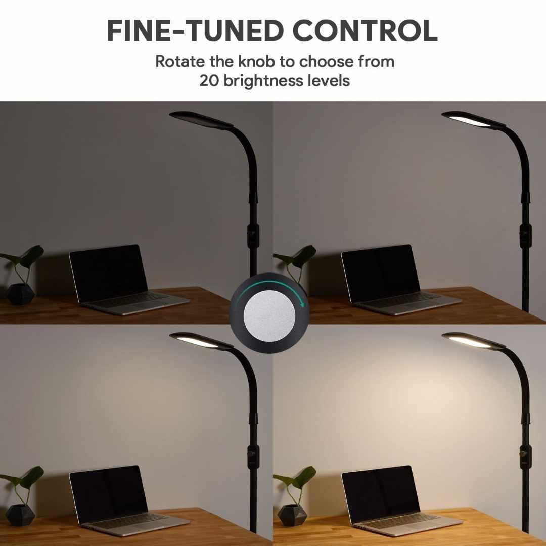 image test de la lampe sur pied à LED Aukey avec 3 modes d'éclairage 17