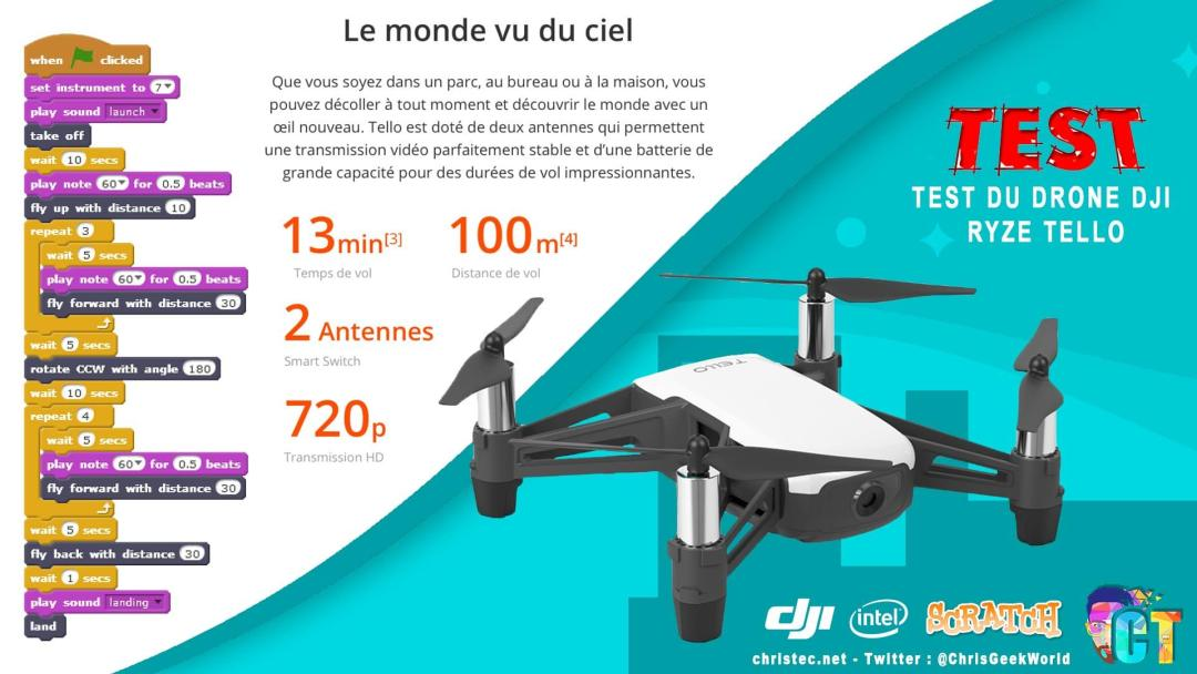 image en-tête du drone DJI Ryze Tello