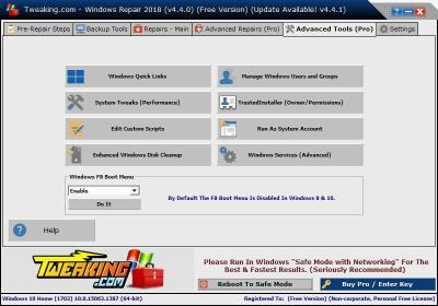 image Tutorielle pour réparer Windows avec le logiciel (Windows repair) 20