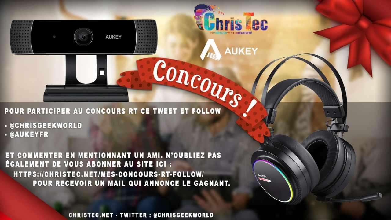 Voici les gagnants du concours twitter (Webcam 1080P et Casque Gamer Aukey)