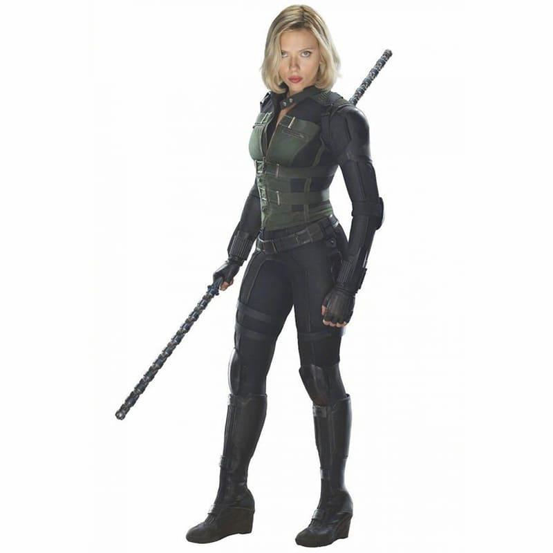 """image Look de """"Black Widow"""" Natasha Romanoff dans Avengers Infinity War (Combinaison et Veste) 20"""