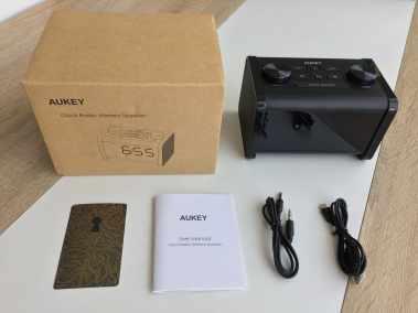 image Test du radioréveil Aukey avec enceinte Bluetooth et minuterie de sommeil 3