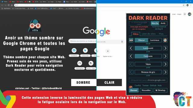 Tuto pour avoir un thème sombre sur Google Chrome et tous les sites internet