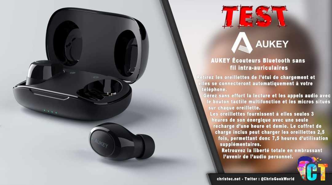 image en-tête Test des écouteurs true wireless intra-auriculaires de Aukey