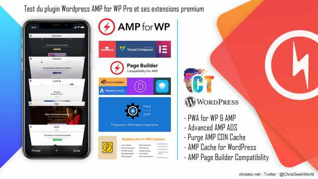 Test du plugin WordPress AMP for WP Pro et ses extensions premium