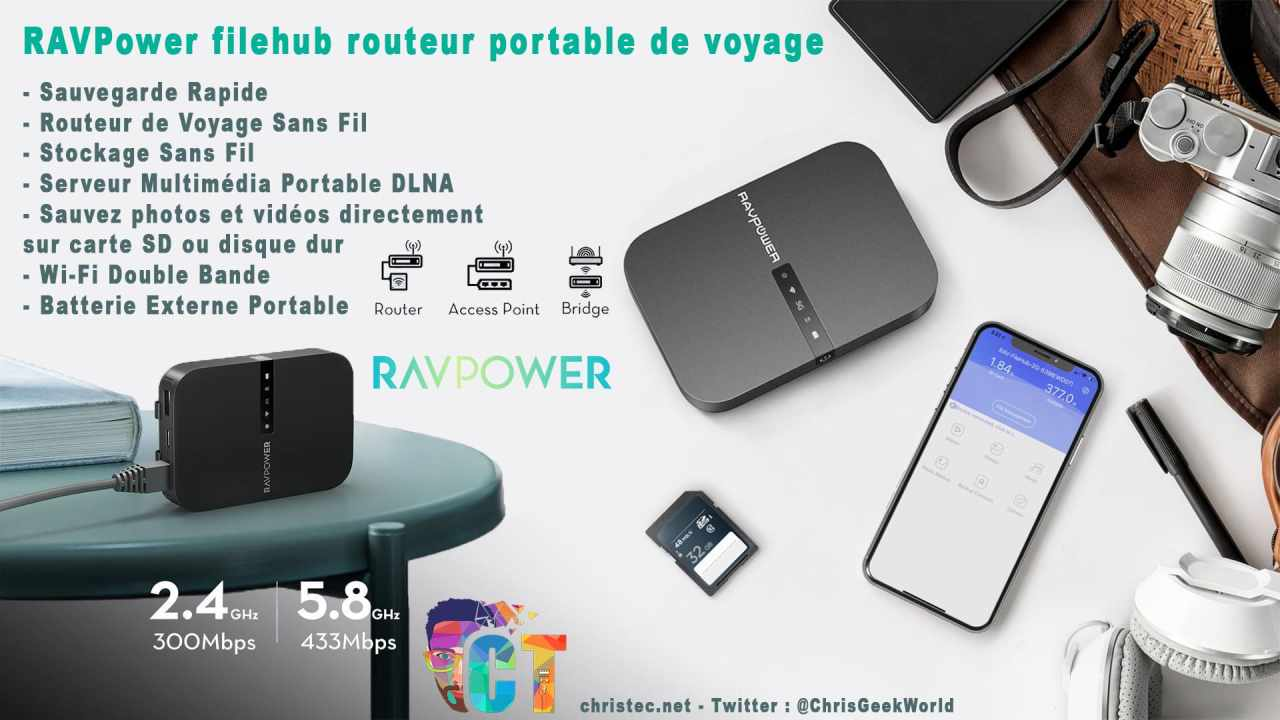 image en-tête Test du FileHub de RAVPower, NAS portable, sauvegarde de vos fichiers, routeur, media server