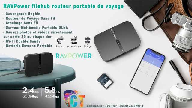 Test du FileHub de RAVPower, NAS portable, sauvegarde de vos fichiers, routeur, media server