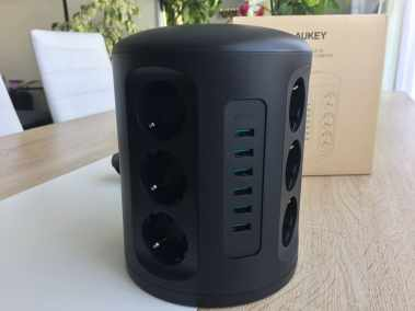 image Test de la tour Multiprise Aukey avec protection parafoudre 6 Ports USB et 12 Prises Secteur 4