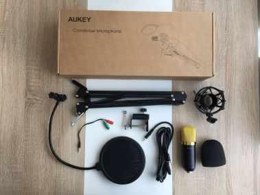 image Test du kit microphone et support de microphone à bras ciseaux Aukey 2