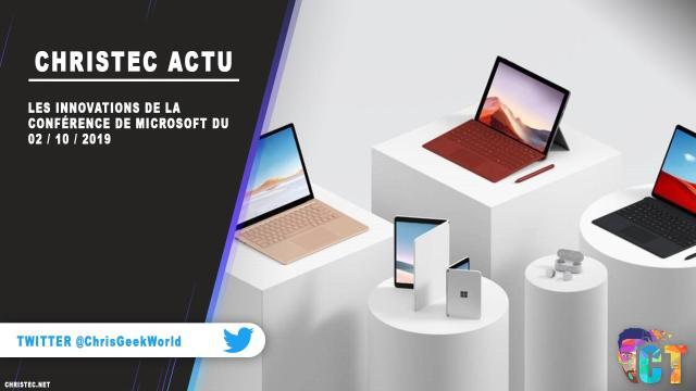 Les innovations de la conférence de Microsoft du 02 / 10 / 2019