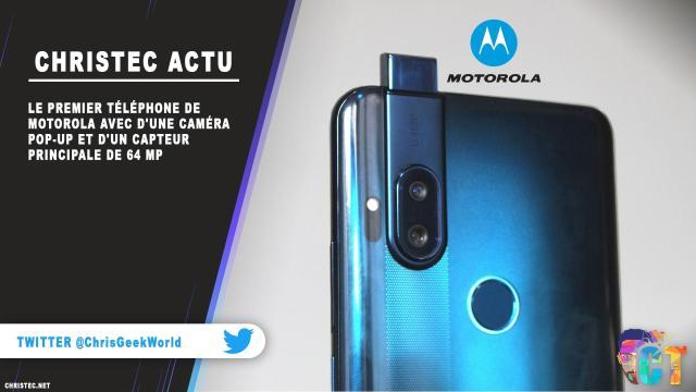 Le premier téléphone de Motorola avec une caméra pop-up et un capteur principale de 64 MP
