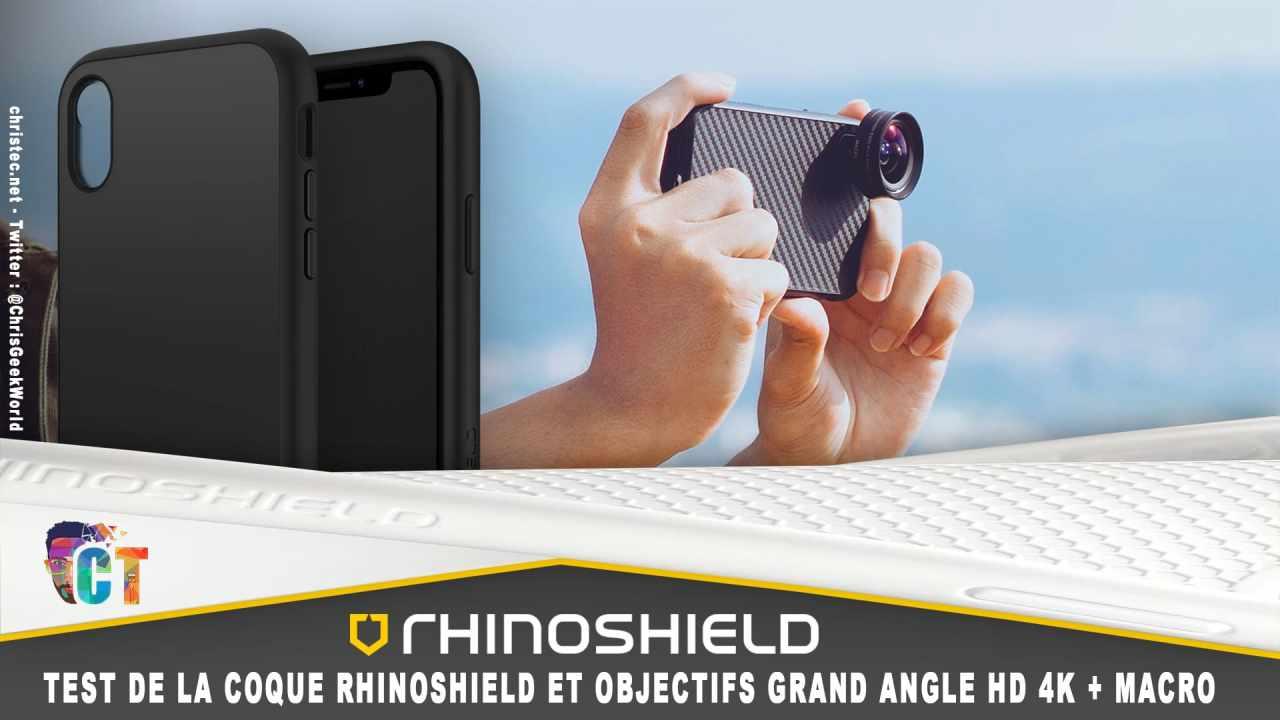 Test de la coque RhinoShield et de objectifs Grand Angle HD 4K + Macro