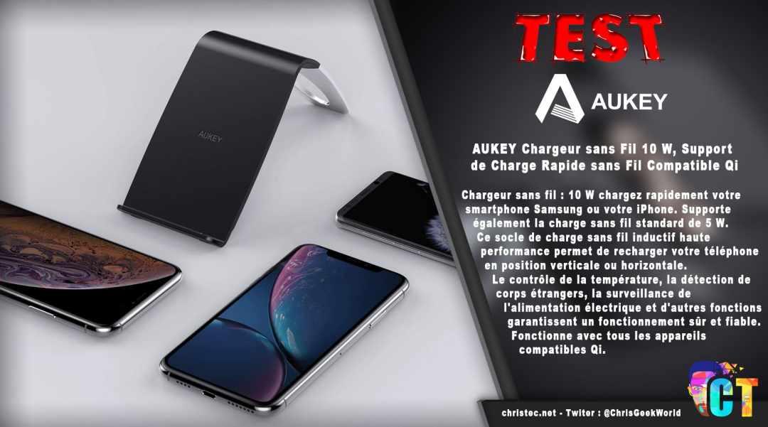image en-tête Test du support et chargeur sans fil QI Aukey pour smartphone