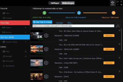 image Découverte du logiciel 5KPlayer le lecteur vidéo 4K gratuit qui télécharger les vidéos YouTube 11