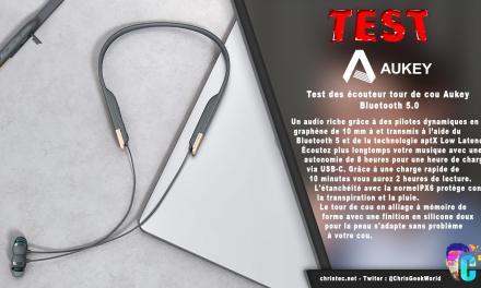 Test des écouteur tour de cou Aukey EP-B33-08 Bluetooth 5.0