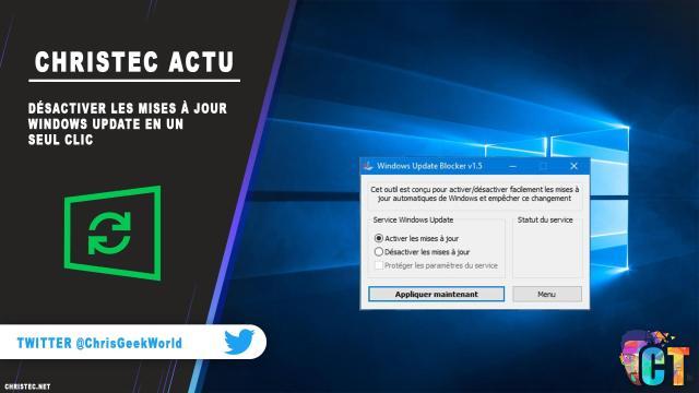 Désactiver les mises à jour Windows Update en un seul clic